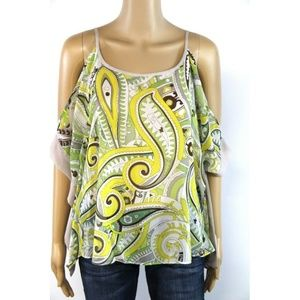 New Jennifer Lopez Women's Top Blouse Yellow Lace
